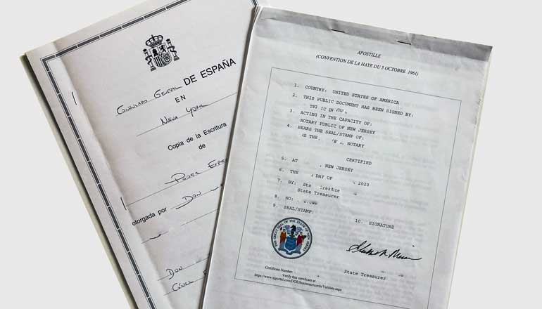 Power of Attorney and Hague Apostille
